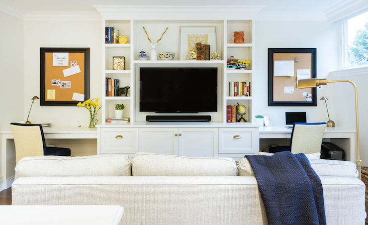 navy kitchen rug knives family room built in cabinets design ideas