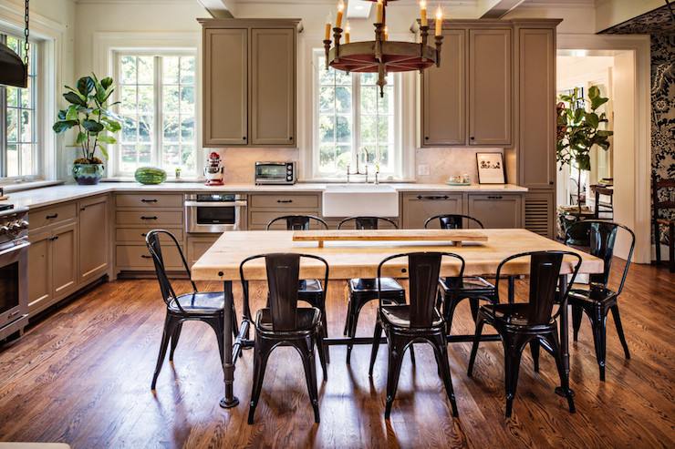 farmhouse dining chairs that convert to a bed taupe kitchen cabinets - transitional the wills company