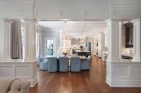 Interior Columns - Transitional - Dining Room - Blue Water ...