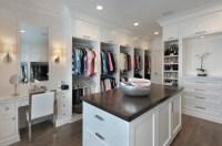 Closet with Makeup Table - Transitional - Closet - Blue ...