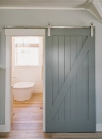 Bathroom with Barn Door