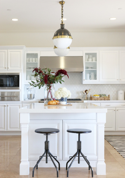 Walker Zanger Hexagon Mosaic Tile  Transitional  kitchen
