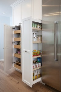 Pull Out Pantry Cabinets - Transitional - kitchen - Lauren ...