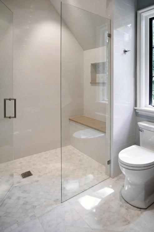 Glass walk In Shower Ideas  Transitional  Bathroom  CR
