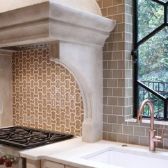Tiled Kitchen Countertops Cabinet Doors Woody Limestone Countertop - Transitional Cr ...