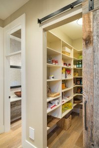 Pantry with Barn Door