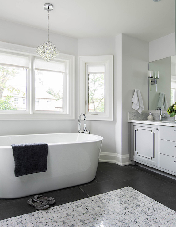 Gray And White Bathroom Ideas  Transitional  Bathroom