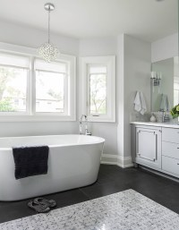 Gray and White Bathroom Ideas - Transitional - Bathroom ...