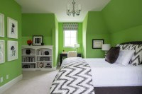 Lime Green Paint Colors - Contemporary - Girl's Room ...