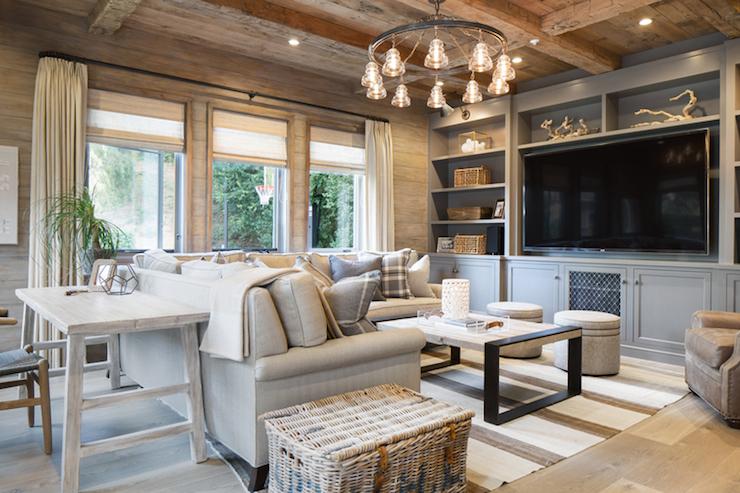 rustic elegant living room designs sofas desk behind sofa cottage kelly nutt design