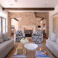 Two Sided Fireplace - Vintage - living room - Jessica ...