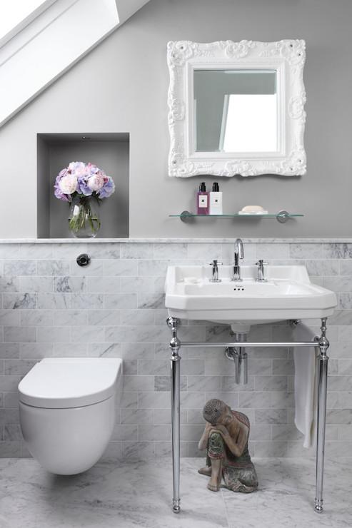 Over The Toilet Niche  Transitional  Bathroom  Oliver Burns