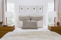 Art Over Headboard - Transitional - Bedroom - Dana Wolter ...