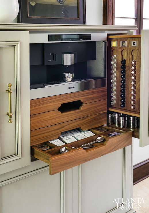 Built In Coffee Station  Transitional  Kitchen  Atlanta