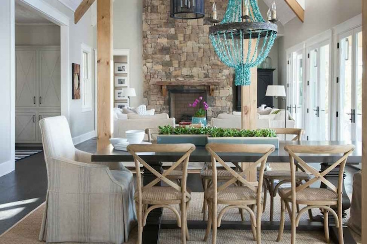 captain chairs dining room wheelchair hire york turquoise beaded chandelier - transitional julie couch interiors