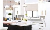 Shiny Brass Kitchen Cabinet Hardware Design Ideas
