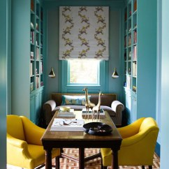 Gray Accent Chair With Arms Types Of Covers For Wedding Turquoise Office Ideas - Transitional Den/library/office Anik Pearson Architect