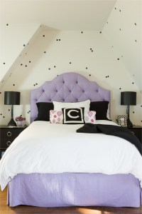 Purple Tufted Headboard - Transitional - Girl's Room ...