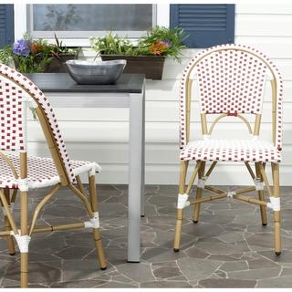 Set of 2 Paris Bistro Natural and Navy Chairs