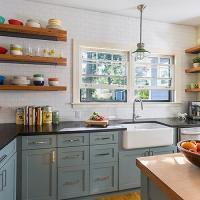 Wraparound Kitchen Cabinets Design Ideas