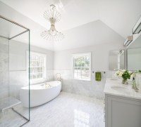 White and Grey Master Bathrooms - Contemporary - Bathroom ...