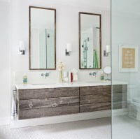 Reclaimed Wood Vanity - Modern - bathroom - BHG