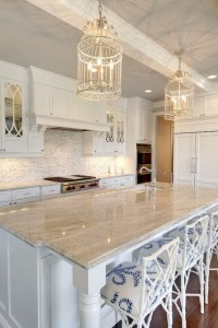 Gray and White Granite Countertops - Transitional ...