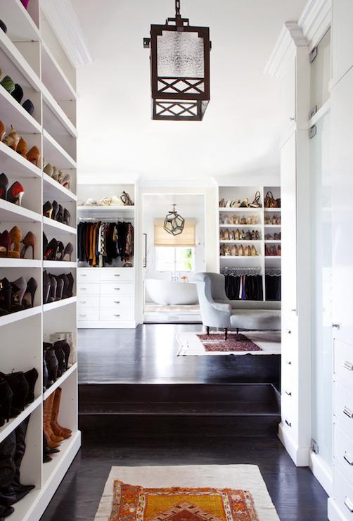 Walk Through Closet Design  Transitional  Closet  Estee