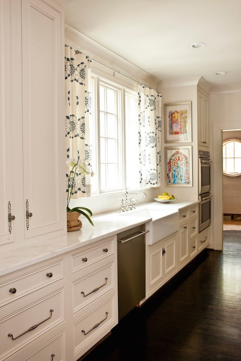 Kitchen Cafe Curtains Traditional Kitchen Urban Grace Interiors