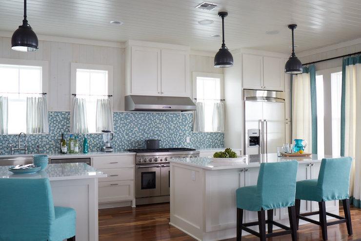 Turquoise Kitchen Design Cottage Kitchen Tracery