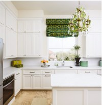 White Kitchen with Green Accents - Transitional - Kitchen ...
