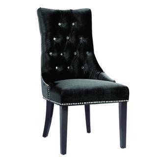 chloe on tufted velvet sofa black dfs haute house sausalito purple chair