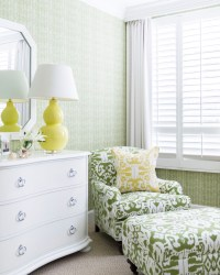 Yellow and Green Bedrooms - Transitional - Bedroom - J K ...