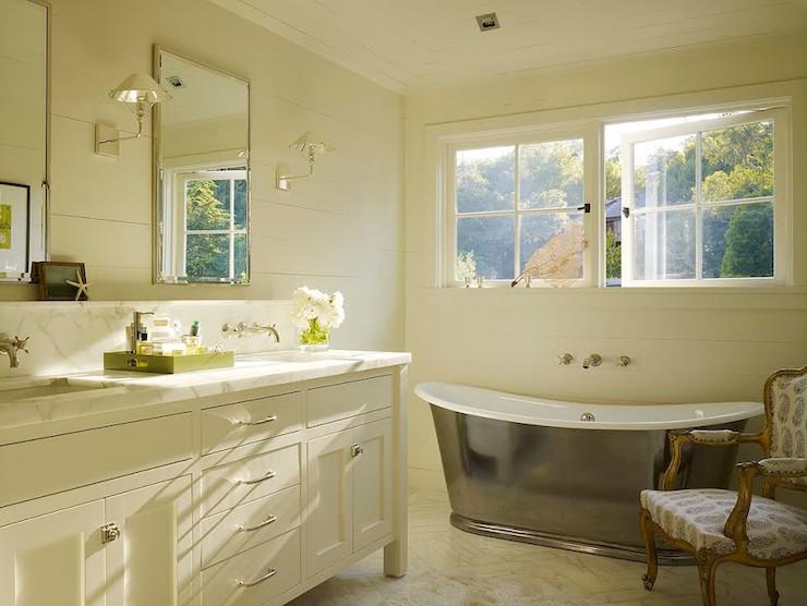Double Bathroom Vanity with Backsplash Shelf