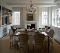 Dining Table Behind Sofa - Transitional - Living Room - B ...