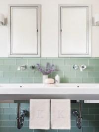 Green Subway Tiles - Contemporary - Bathroom - Sophie Metz ...