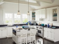 Kitchen with Cathedral Ceiling - Cottage - Kitchen ...