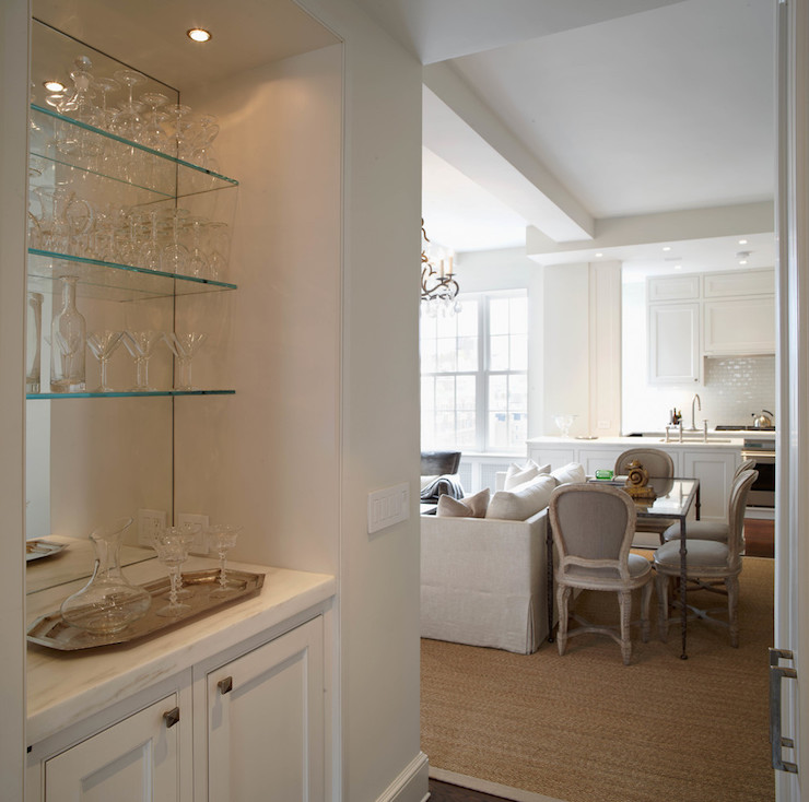 living room glass shelves best paint colors for a small built in bar with transitional b