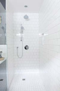 Shower With Square Tiles Design Ideas
