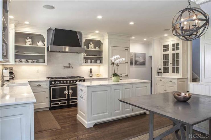 zinc top kitchen island kohler sinks home depot black la cornue range - transitional ken gemes ...