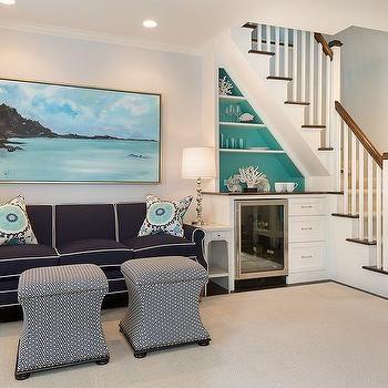 Turquoise Mini Bar Design Ideas | Home Mini Bar Design Under Staircase | Wine Cellar | Living Room | Basement Stairs | Basement Bar | Interior Design Ideas