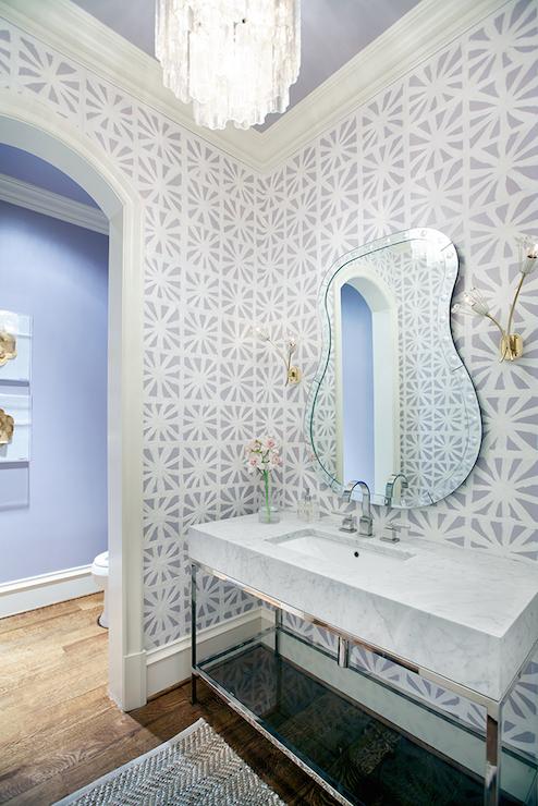 Gray Powder Rooms  Contemporary  Bathroom  Tracy