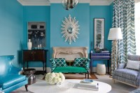 Turquoise Living Room - Eclectic - Living Room - Massucco ...