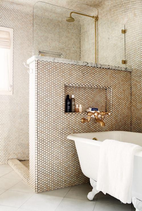 Shower Pony Wall  Contemporary  Bathroom  Studio MRS