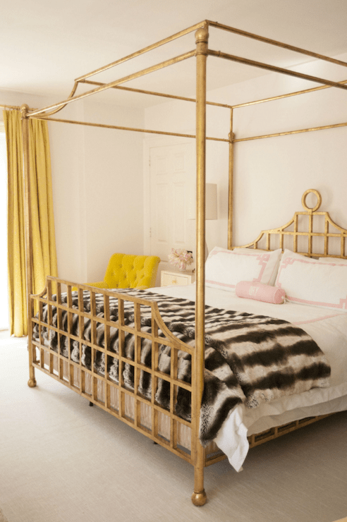 Gold Canopy Bed  Contemporary  Bedroom  Cynthia Brooks