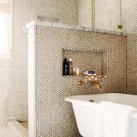 Bathroom Pony Wall Design Ideas