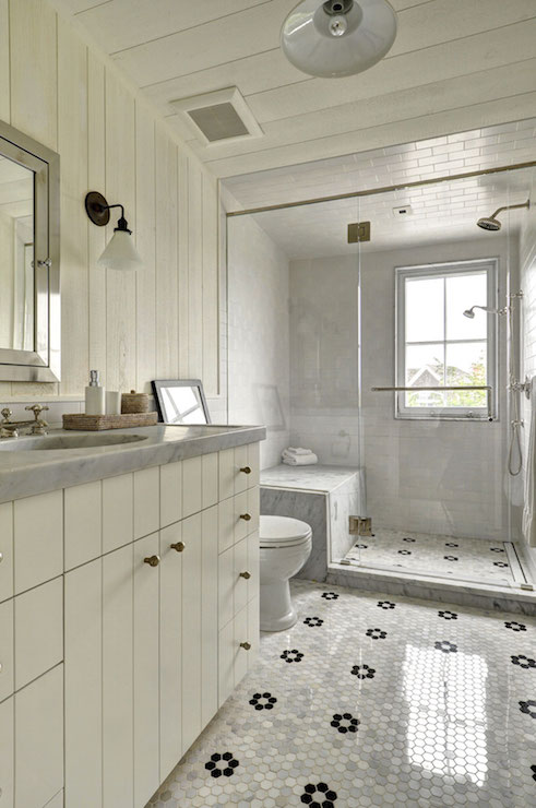 Marble Top Washstand Transitional Bathroom