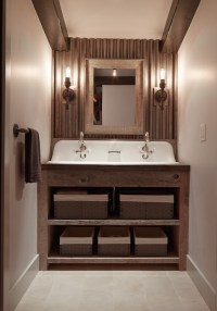 Galvanized Metal Backsplash - Country - Bathroom ...