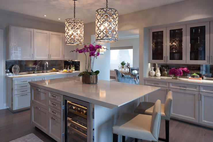 Quatrefoil Pendant Lights  Contemporary  Kitchen  James