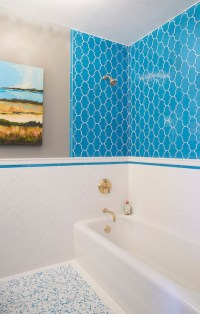 White And Turquoise Mosaic Tiles Design Ideas